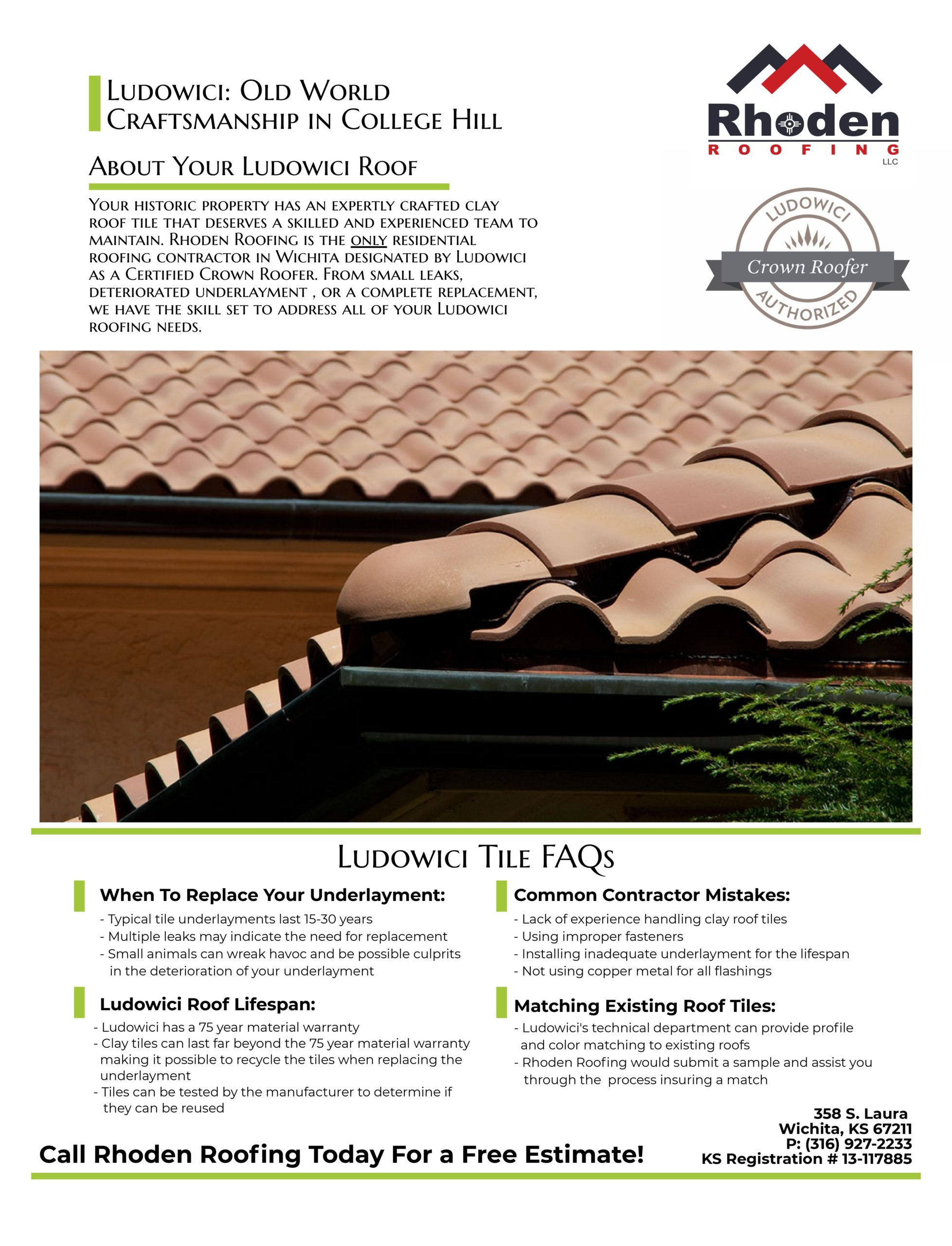Ludowici tile faqs infographic